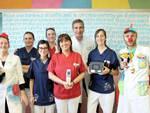 l'equipe di Pediatria di Piacenza con gli strumenti donati