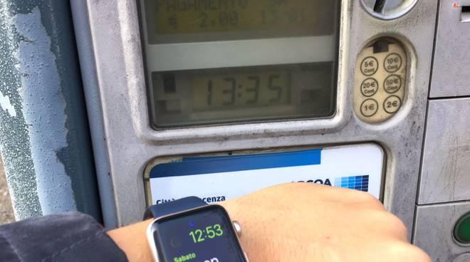 Parchimetro Apcoa con orario sbagliato
