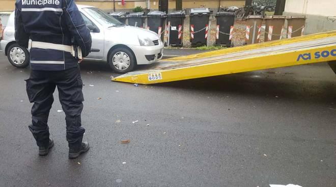 Sequestro mezzi Polizia Municipale di Piacenza