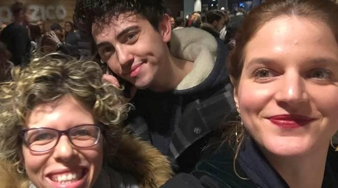 Con Chiara e e Michele Bravi