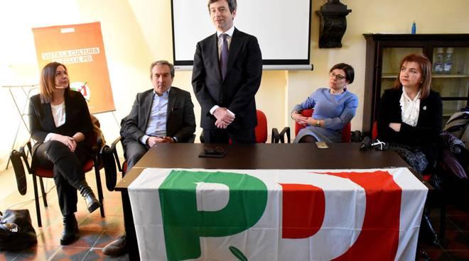 Il ministro Orlando a Fiorenzuola con i candidati Pd