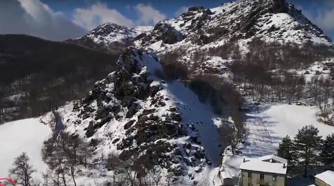 Il monte Menegora dall'alto