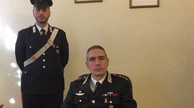 Il tenente colonnello Marco Iannucci, comandante del nucleo operativo dei carabinieri di Piacenza