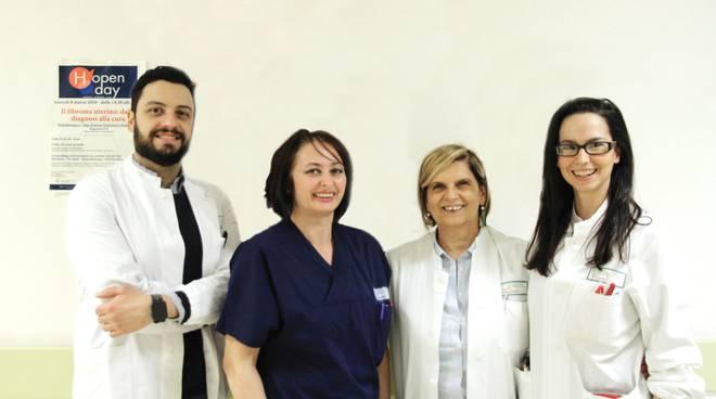 L'équipe di ginecologia, guidata dalla dottoressa Bonini