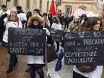 La protesta delle maestre a Parma