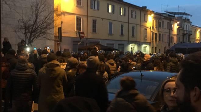 Manifestazione di protesta contro Casapound