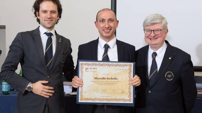 Marcello Sorbello si diploma Master Sommelier alla scuola Alma