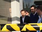 Matteo Salvini alla sede di Amazon