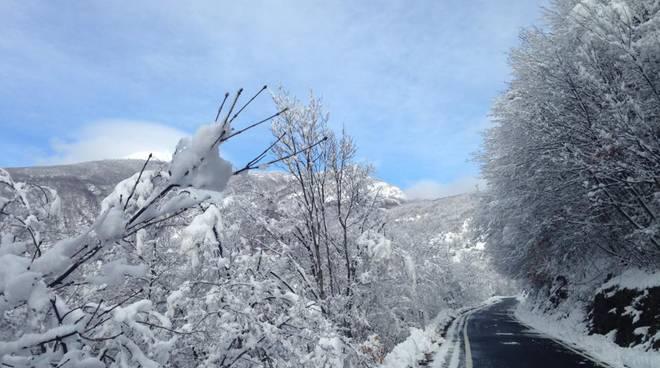 neve in Val Boreca