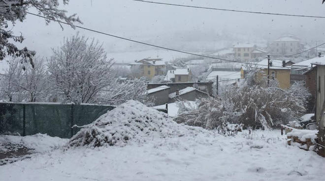 Nevicata a Piacenza del 22 febbraio