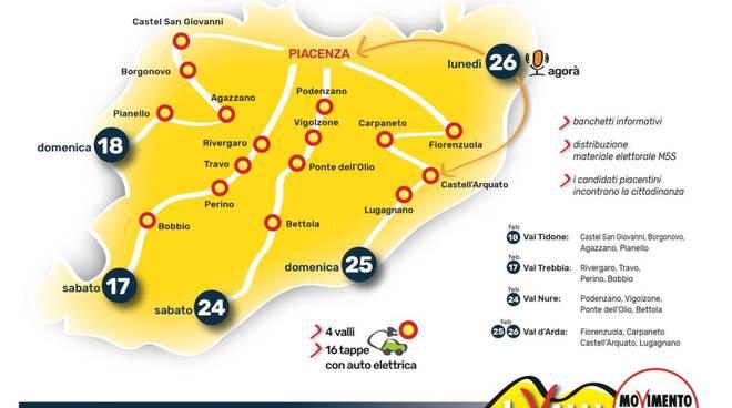 Tour 4 valli M5s