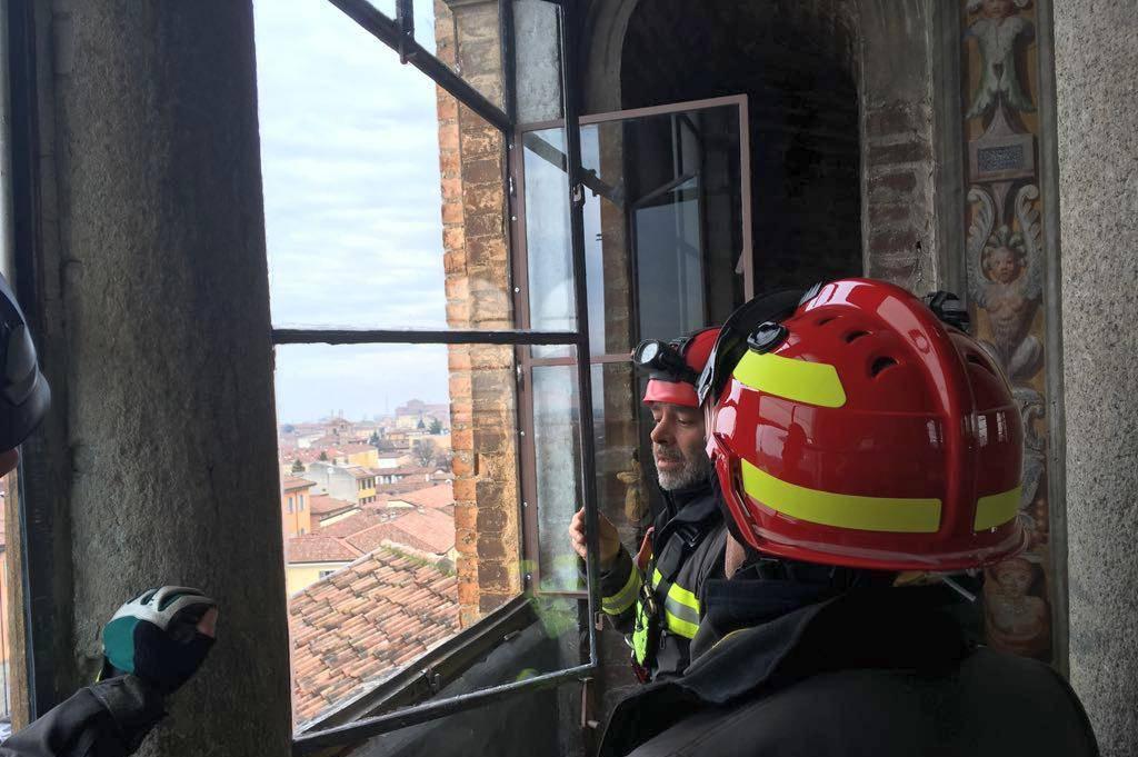 Vigili del fuoco in S. Maria di Campagna