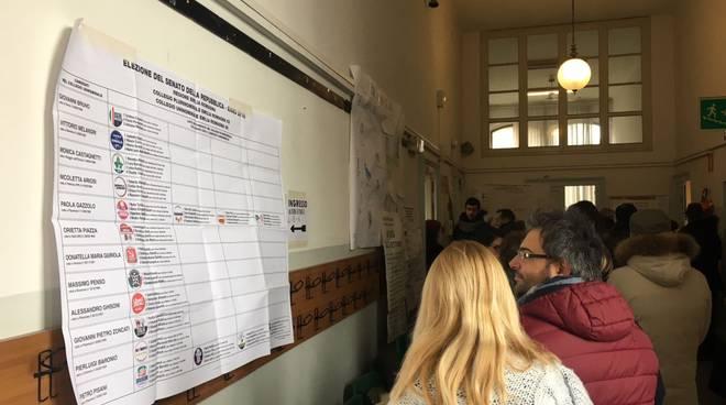 Code in attesa di poter votare al seggio Mazzini