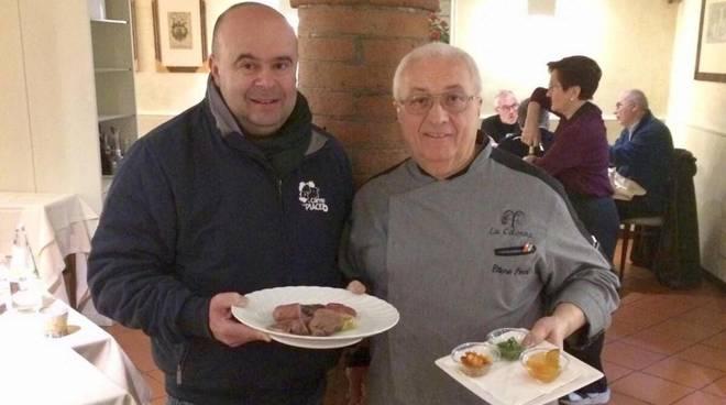 Giampaolo Maloberti con lo chef Ettore Ferri