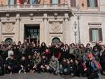 Gli studenti in visita a Montecitorio