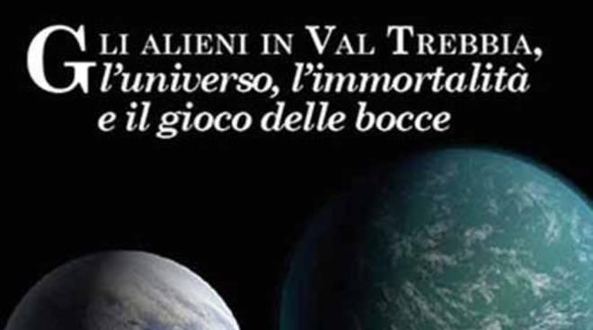 """La copertina del libro """"Alieni in Valtrebbia"""""""