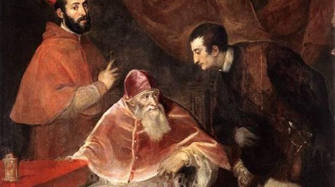 Ritratto di Paolo III con i nipoti Alessandro e Ottavio Farnese