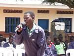 Un momento della cerimonia in Uganda