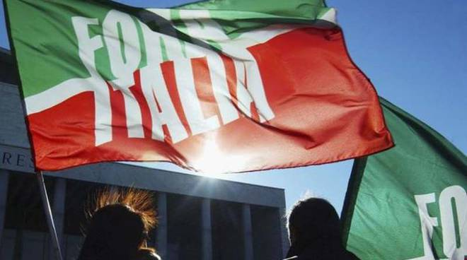Una bandiera di Forza Italia