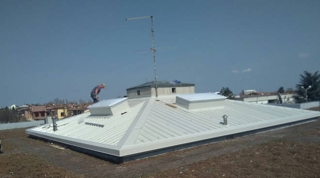 I lavori al tetto della sede Tutor