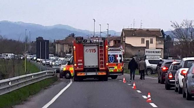 Incidente stradale a Podenzano