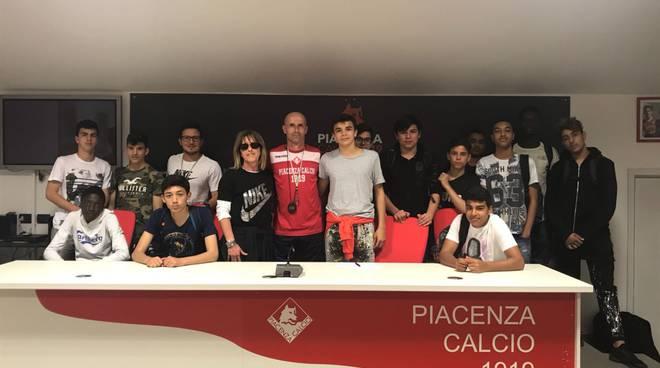 Isii Marconi in visita al Piacenza Calcio