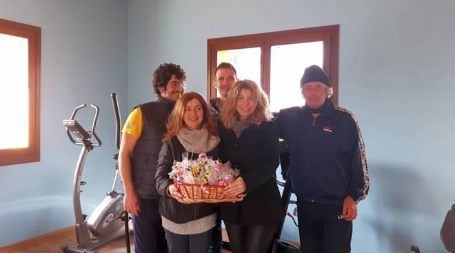 La famiglia Fiori con il presidente Anga e la segretaria