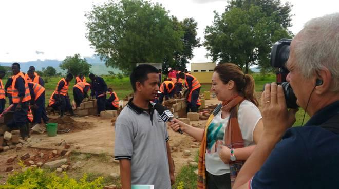 La giornalista Annapaola Ricci in Karamoja