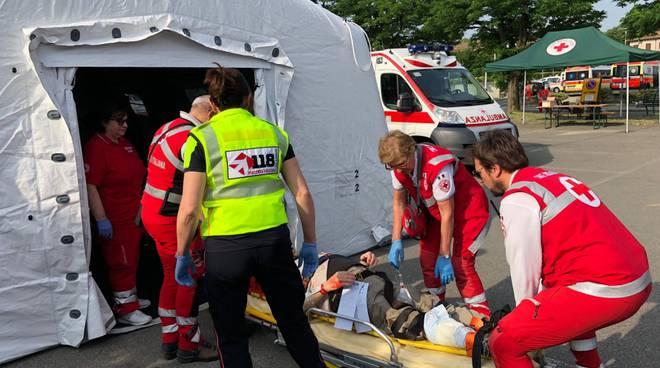 Esercitazione dei mezzi di soccorso
