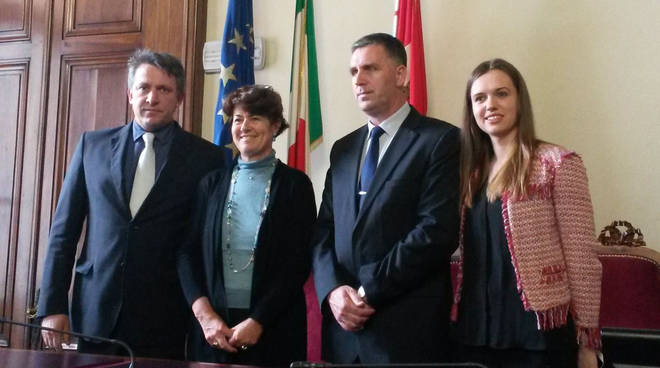 L'incontro in Municipio con la delegazione bosniaca