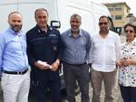 La consegna dei generi alimentari al carcere di Piacenza