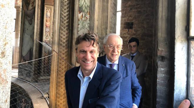 Nicola Porro insieme a Corrado Sforza Fogliani