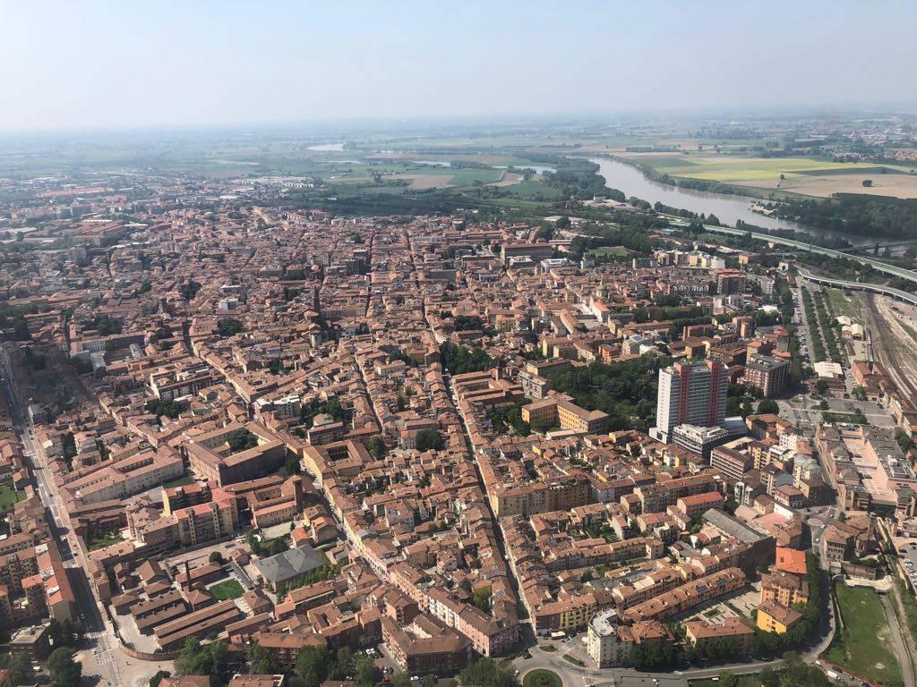 Piacenza dall'alto