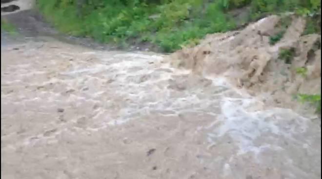 Violento acquazzone a Bettola