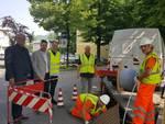 I lavori a Pontedellolio per la posa della fibra ottica