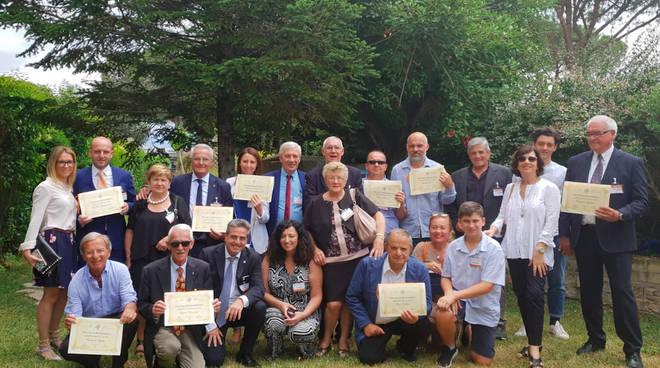 I premiati a Roma dalla LND