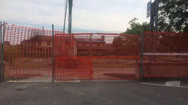 Il cantiere della nuova caserma dei carabinieri a Podenzano