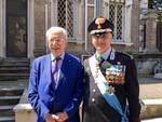 Il Presidente Sforza Fogliani con il comandante provinciale Scattaretico