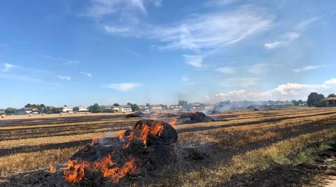 Incendio a San Nicolò