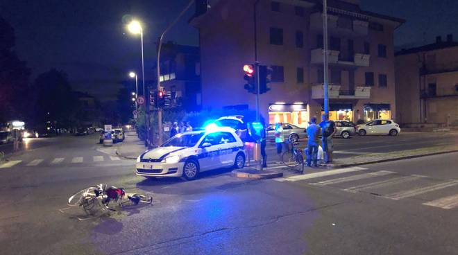 Incidente bici via Manfredi