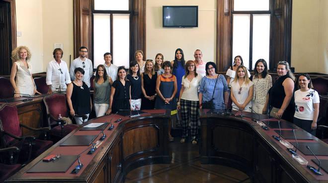 L'incontro in Municipio con gli studenti slovacchi e polacchi