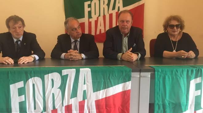La conferenza stampa di Forza Italia