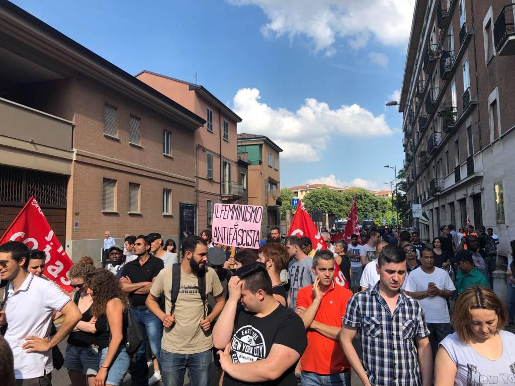 La manifestazione dei si Cobas a Piacenza