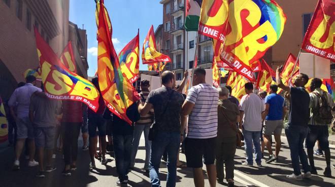 La manifestazione del sindacato Usb