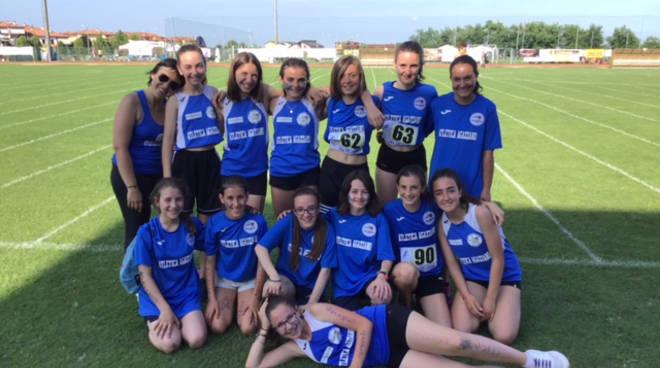La squadra ragazze dell'Atletica Agazzano