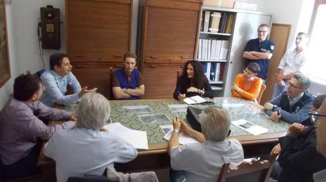 La visita della Commissione Collaudo alla diga di Mignano