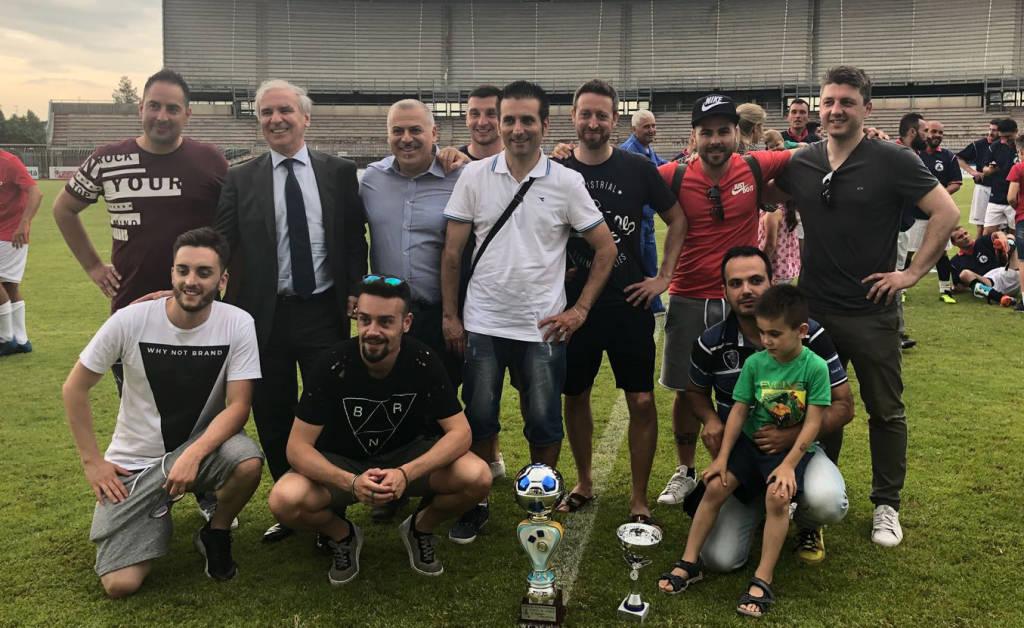 Le premiazioni del torneo interforze allo stadio Garilli