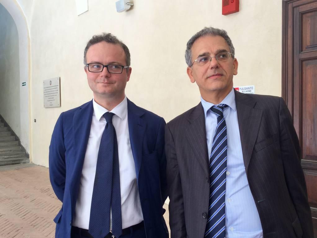 Gli avvocati Antonino Rossi e Fabio Leggi