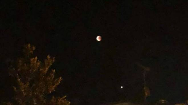 La luna di sangue vista dal Piacentino