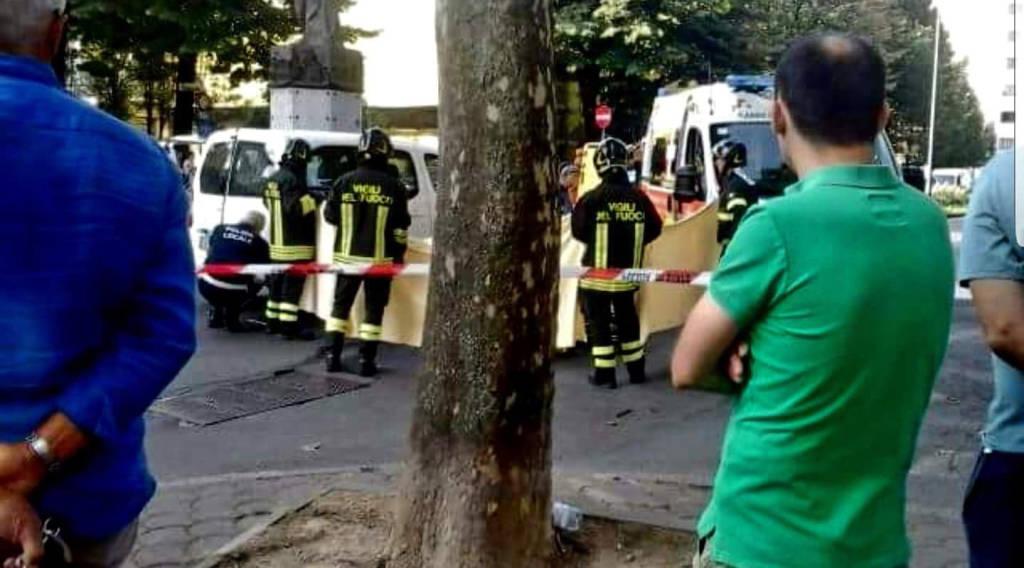 La scena dell'incidente a Barriera Genova